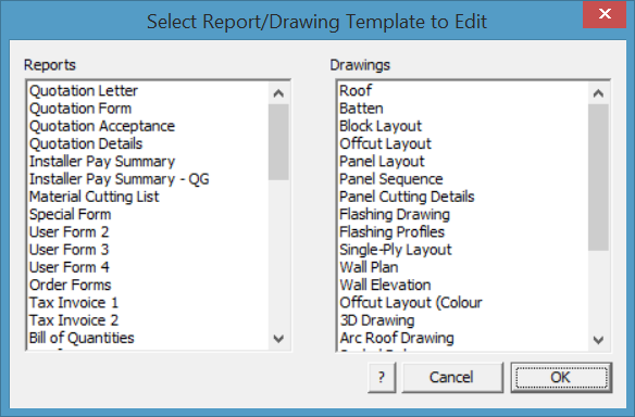 This image shows the Report/Drawing template in AppliCad Roof Wizard https://www.applicad.com