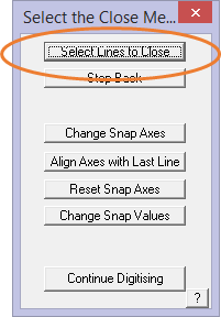 This image shows the Close Method menu in AppliCad Roof Wizard https://www.applicad.com