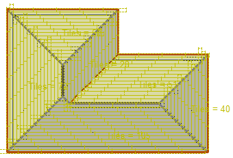This image shows a Roof Model with Shingles in AppliCad Roof Wizard https://www.applicad.com
