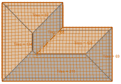 This image shows a roof model with tiles in AppliCad Roof Wizard https://www.applicad.com