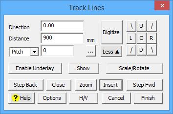 This image shows the track lines box in AppliCad Roof Wizard https://www.applicad.com