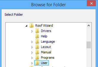 This image shows the Folders in AppliCad Roof Wizard https://www.applicad.com