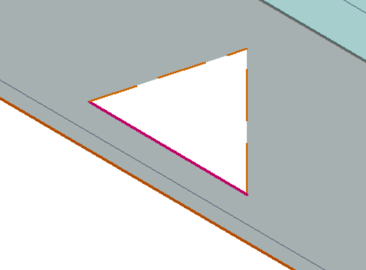 This image shows a After of the delete hole function in AppliCad Roof Wizard https://www.applicad.com
