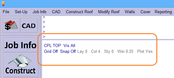 This image shows the status box in AppliCad Roof Wizard https://www.applicad.com