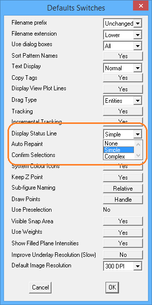 This image shows the Pulldown Menu in AppliCad Roof Wizard https://www.applicad.com