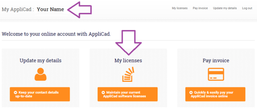 This image shows the AppliCad Website https://www.applicad.com