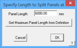 This image shows the split panel length in AppliCad Roof Wizard https://www.applicad.com