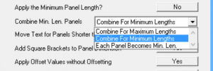 This image shows the combine minimal lengths in AppliCad Roof Wizard https://www.applicad.com