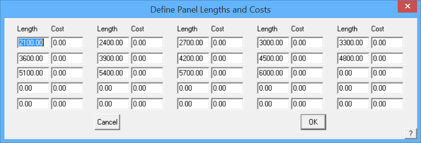 This image shows the Panel Lengths and cost box in AppliCad Roof Wizard https://www.applicad.com