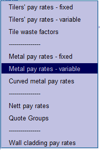This image shows the Pay Rates in AppliCad Roof Wizard https://www.applicad.com