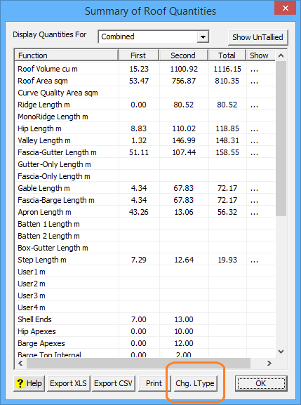 This image shows the Summary of Roof Quantities menu in AppliCad Roof Wizard https://www.applicadcom
