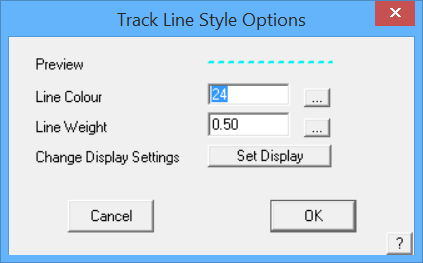 This image shows the Track Line Style menu in AppliCad Roof Wizard https://www.applicad.com