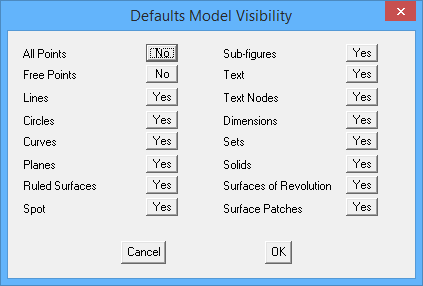 This image shows the model visibility menu in AppliCad Roof Wizard https://www.applicad.com