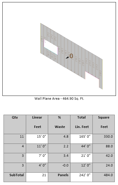 This image shows wall section report in AppliCad Roof Wizard https://www.applicad.com