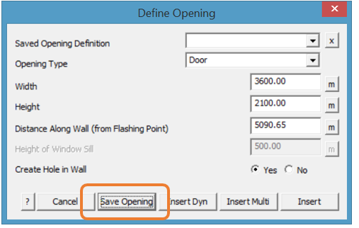 This image shows how to define an opening in AppliCad Roof Wizard https://www.applicad.com