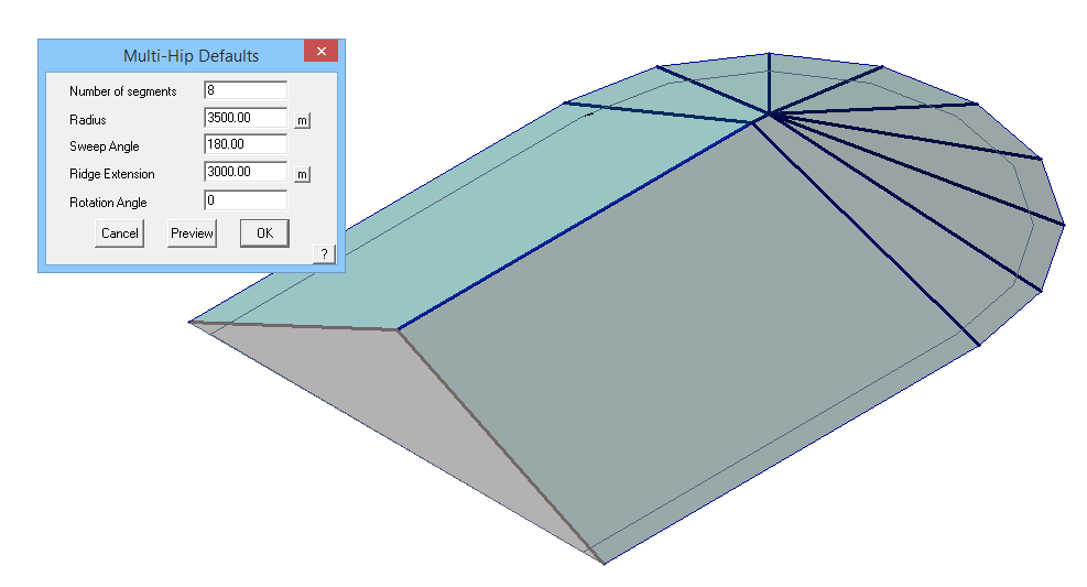 This image shows a multi hip roof in AppliCad Roof Wizard https://www.applicad.com