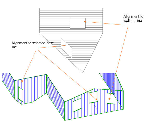 This image shows the Track opening outline shape in AppliCad Roof Wizard https://www.applicad.com