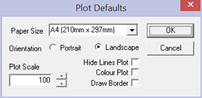 This image shows the plot Defaults in AppliCad Roof Wizard https://www.applicad.com