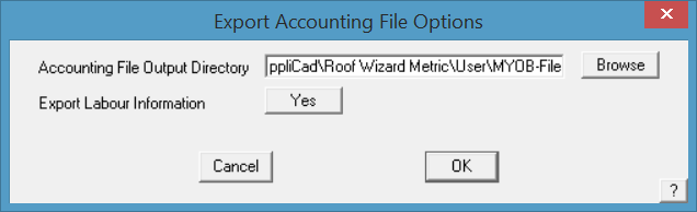 This image shows the export account file in AppliCad Roof Wizard https://www.applicad.com