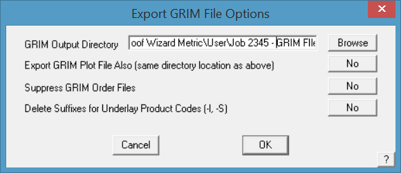 This image shows the export GRIM file in AppliCad Roof Wizard https://www.applicad.com