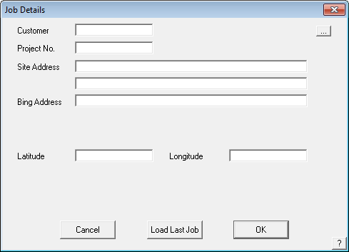 This image shows the modified job details box in AppliCad Roof Wizard https://www.Applicad.com