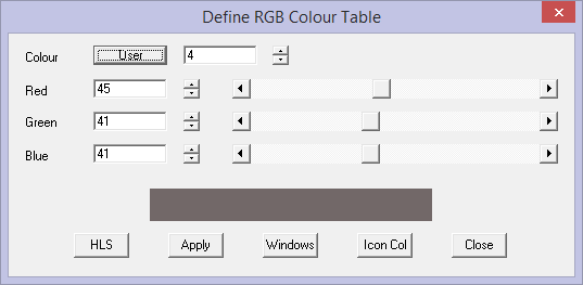 This image shows the colour table in AppliCad Roof Wizard https://www.applicad.com