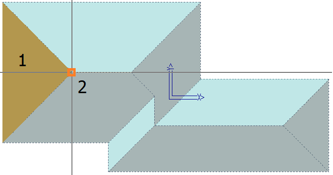 This image shows the Split Plane at Point in AppliCad Roof Wizard https://www.applicad.com