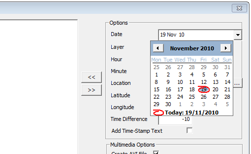 This image shows a calendar in AppliCad Roof Wizard https://www.applicad.com