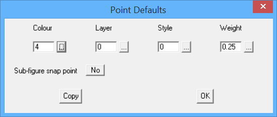 This image shows Point Defaults menu in AppliCad Roof Wizard https://www.applicad.com