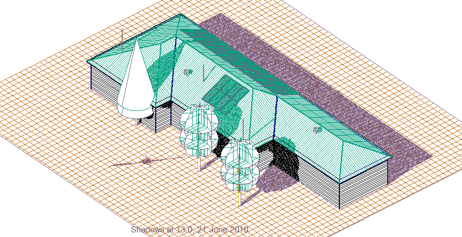 This image shows a 3D model with shadows in AppliCad Roof Wizard https://www.applicad.com