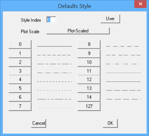 This image shows the Defaults Style Menu in AppliCad Roof Wizard https://applicad.com