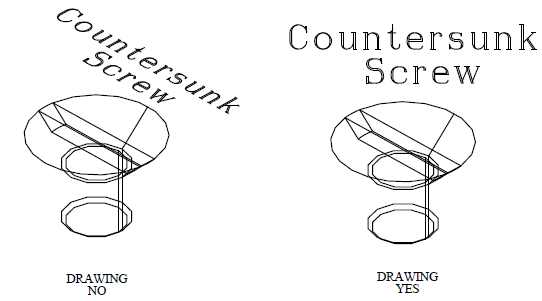 This image shows an example in Countersunk Screw in AppliCad Roof Wizard https://www.applicad.com