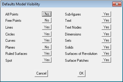 This image shows the Model Visibility menu in AppliCad Roof Wizard https://www.applicad,com