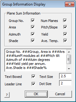 This image shows the Group information display menu in AppliCad Roof Wizard https://www.applicad.com