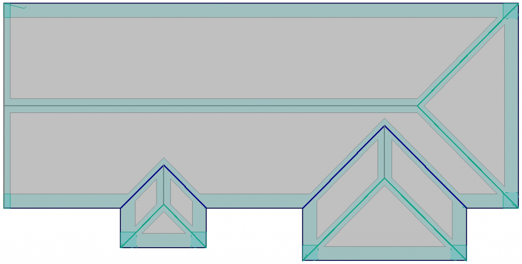 This image shows a 3D model with Exclusion Zones in AppliCad Roof Wizard https://www.applicad.com
