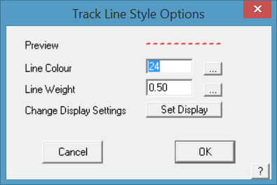 This image shows the Track Line Style Options menu in AppliCad Roof Wizard https://www.applicad.com