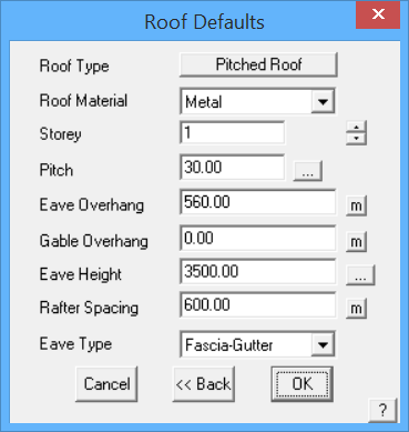 This image shows the Roof Defaults menu in AppliCad Roof Wizard https://www.applicad.com