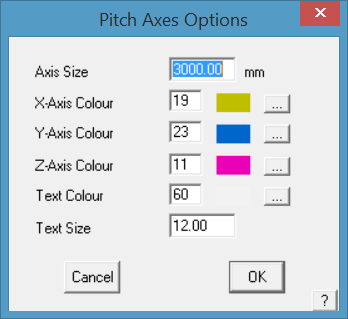 This image shows the Pitch Axes Options menu in AppliCad Roof Wizard https://www.applicad.com