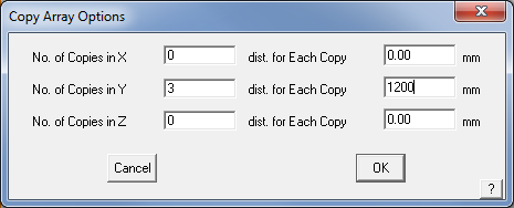 This image shows the Copy Array options menu in AppliCad Roof Wizard https://www.applicad.com
