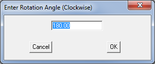 This image shows the rotation angle box in AppliCad Roof Wizard https://www.applicad.com
