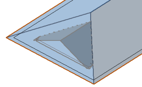 This image shows an example of a dormer with a hip in AppliCad Roof Wizard https://www.applicad.com