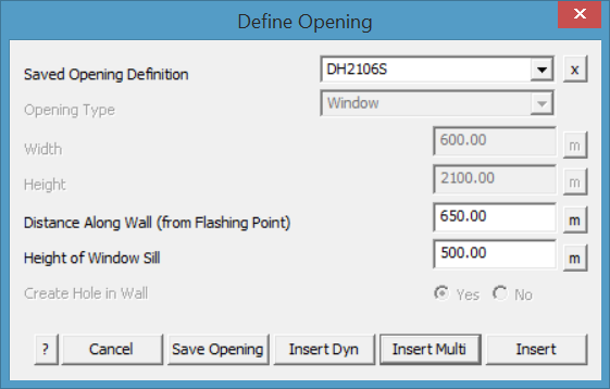 This image shows the Define Opening Menu AppliCad Roof Wizard https://www.applicad.com
