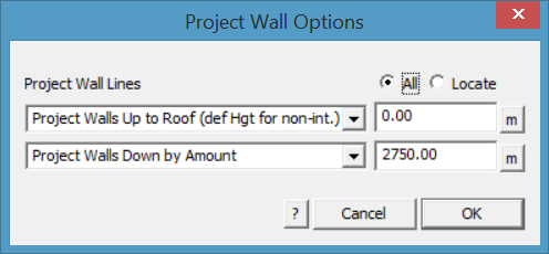This image shows how to Create a Wall in AppliCad Roof Wizard https://www.applicad.com