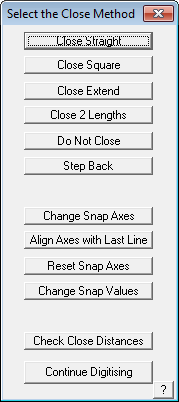 This image shows the Close method selection menu in AppliCad Roof Wizard https://www.applicad.com