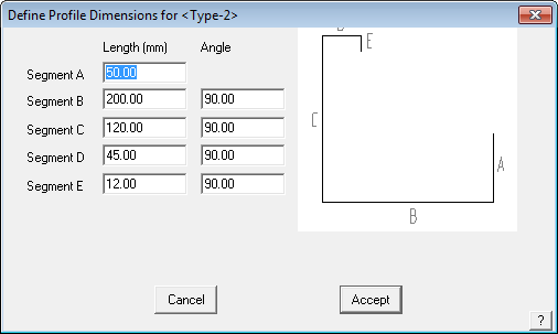 This image shows the Define Profile Dimensions in AppliCad Roof Wizard https://www.applicad.com