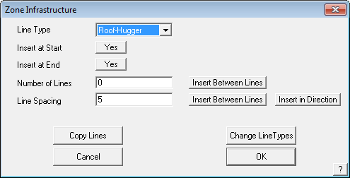 This image shows the Zone Infrastructure menu in AppliCad Roof Wizard https://www.applicad.com