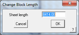 This image shows the Change Block length box in AppliCad Roof Wizard https://www.applicad.com