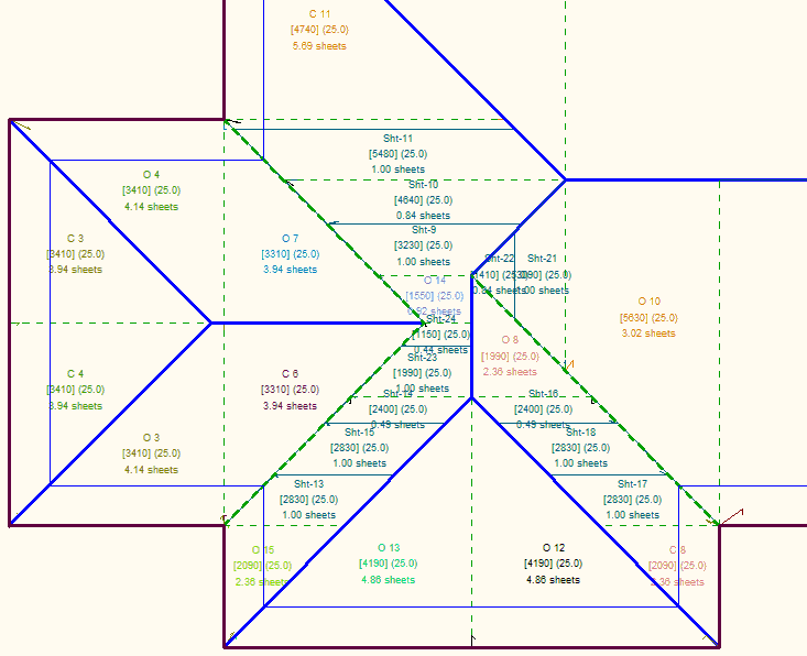 This image shows how to Modify Offcuts in AppliCad Roof Wizard https://www.applicad.com