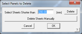 This image shows how to delete panels in AppliCad Roof Wizard https://www.applicad.com