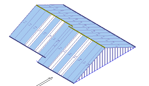 This image shows the sheeting allowance in AppliCad Roof Wizard https://www.applicad.com